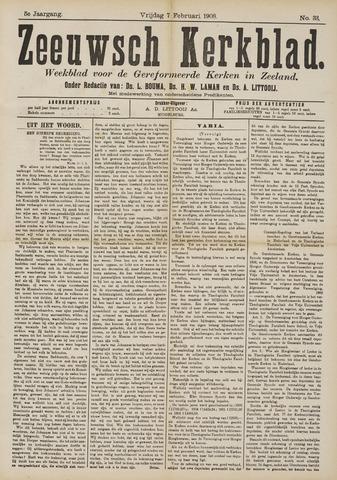 Zeeuwsche kerkbode, weekblad gewijd aan de belangen der gereformeerde kerken/ Zeeuwsch kerkblad 1908-02-07
