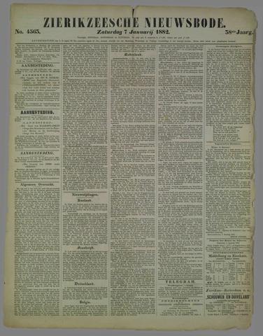 Zierikzeesche Nieuwsbode 1882-01-07