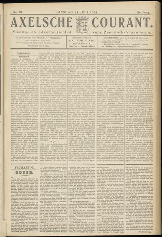 Axelsche Courant 1931-07-21