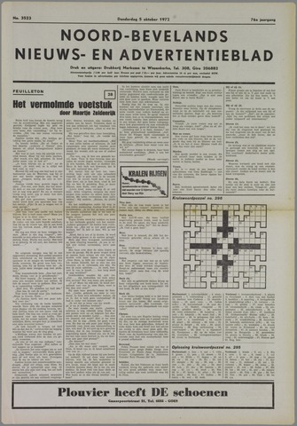 Noord-Bevelands Nieuws- en advertentieblad 1972-10-05