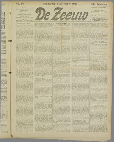 De Zeeuw. Christelijk-historisch nieuwsblad voor Zeeland 1917-11-01