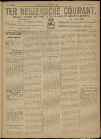 Ter Neuzensche Courant. Algemeen Nieuws- en Advertentieblad voor Zeeuwsch-Vlaanderen / Neuzensche Courant ... (idem) / (Algemeen) nieuws en advertentieblad voor Zeeuwsch-Vlaanderen 1917-01-16