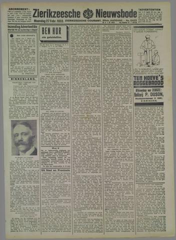 Zierikzeesche Nieuwsbode 1933-02-27