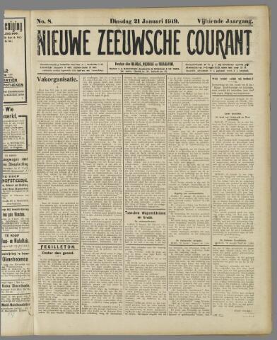 Nieuwe Zeeuwsche Courant 1919-01-21