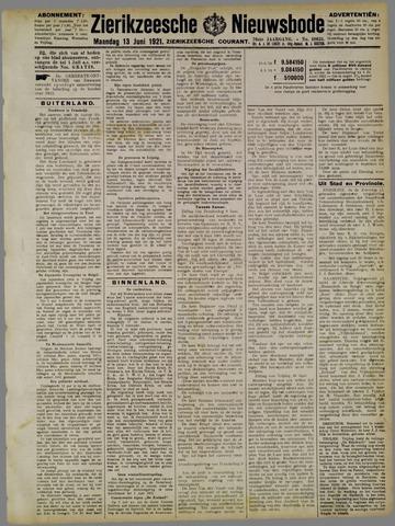 Zierikzeesche Nieuwsbode 1921-06-13