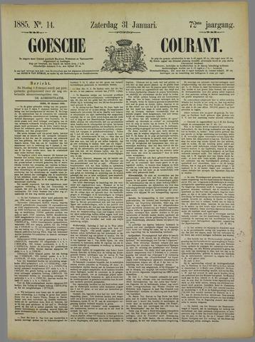 Goessche Courant 1885-01-31