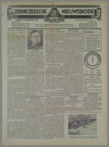 Zierikzeesche Nieuwsbode 1940-02-06