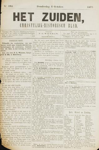 Het Zuiden, Christelijk-historisch blad 1877-10-04