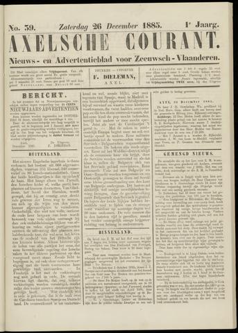 Axelsche Courant 1885-12-26