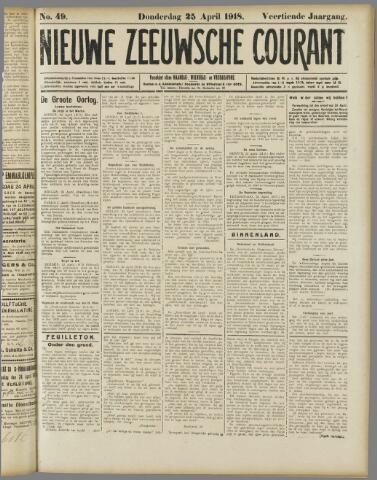 Nieuwe Zeeuwsche Courant 1918-04-25