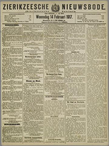 Zierikzeesche Nieuwsbode 1917-02-14