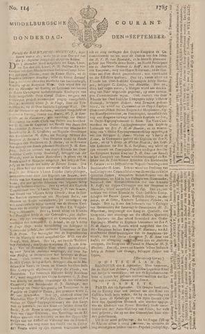 Middelburgsche Courant 1785-09-22