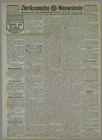 Zierikzeesche Nieuwsbode 1932-10-26