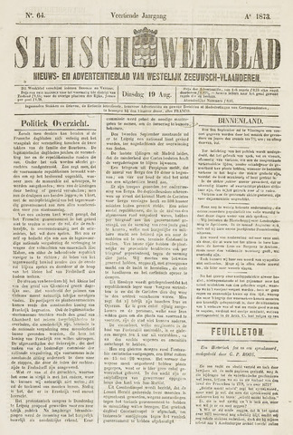 Sluisch Weekblad. Nieuws- en advertentieblad voor Westelijk Zeeuwsch-Vlaanderen 1873-08-19