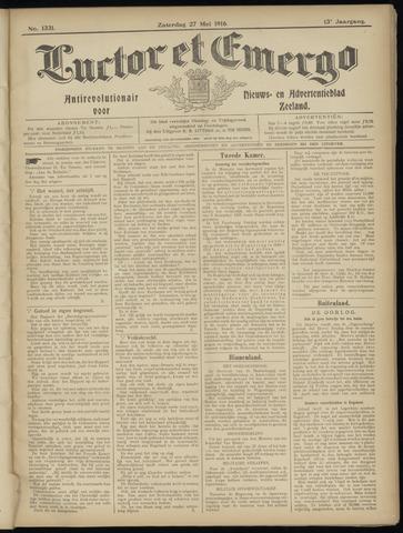 Luctor et Emergo. Antirevolutionair nieuws- en advertentieblad voor Zeeland / Zeeuwsch-Vlaanderen. Orgaan ter verspreiding van de christelijke beginselen in Zeeuwsch-Vlaanderen 1916-05-27