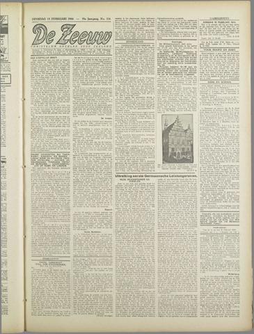 De Zeeuw. Christelijk-historisch nieuwsblad voor Zeeland 1944-02-15