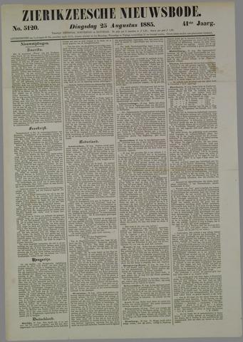 Zierikzeesche Nieuwsbode 1885-08-25