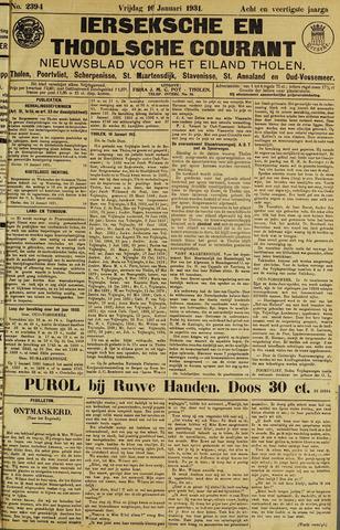 Ierseksche en Thoolsche Courant 1931-01-16