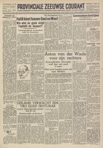 Provinciale Zeeuwse Courant 1948-04-17