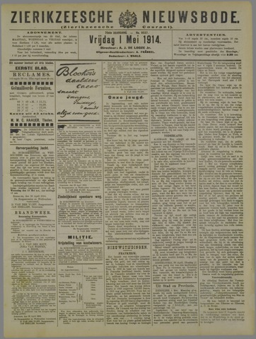 Zierikzeesche Nieuwsbode 1914-05-01