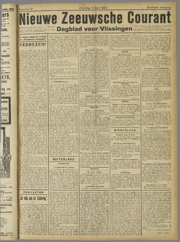 Nieuwe Zeeuwsche Courant 1920-04-03