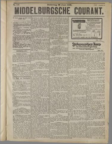 Middelburgsche Courant 1921-06-25
