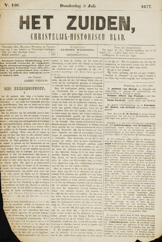 Het Zuiden, Christelijk-historisch blad 1877-07-05
