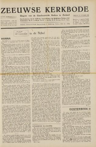 Zeeuwsche kerkbode, weekblad gewijd aan de belangen der gereformeerde kerken/ Zeeuwsch kerkblad 1949-01-28