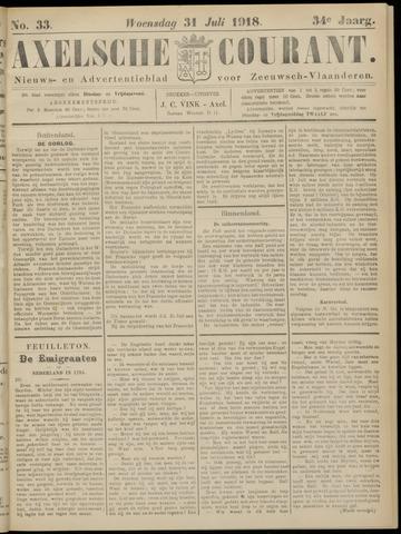 Axelsche Courant 1918-07-31