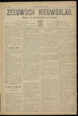 Ter Neuzensch Volksblad. Vrijzinnig nieuws- en advertentieblad voor Zeeuwsch- Vlaanderen / Zeeuwsch Nieuwsblad. Nieuws- en advertentieblad voor Zeeland 1919-01-04