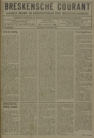 Breskensche Courant 1922-11-22