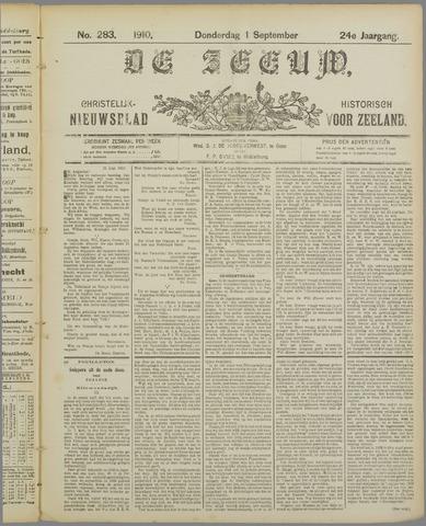 De Zeeuw. Christelijk-historisch nieuwsblad voor Zeeland 1910-09-01