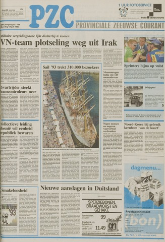 Provinciale Zeeuwse Courant 1993-07-12