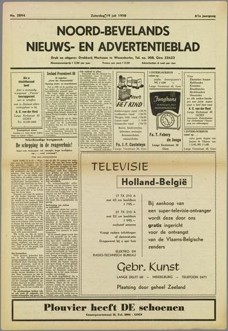 Noord-Bevelands Nieuws- en advertentieblad 1958-07-19