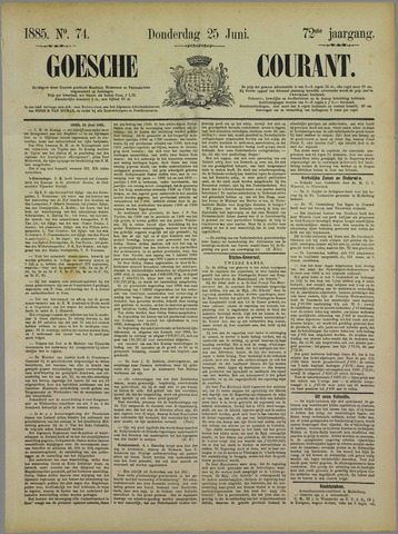 Goessche Courant 1885-06-25