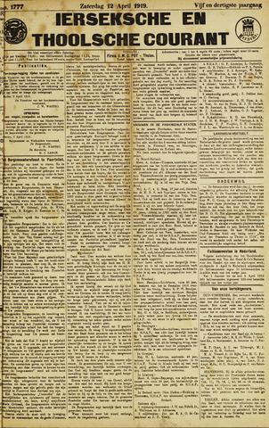 Ierseksche en Thoolsche Courant 1919-04-12