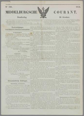 Middelburgsche Courant 1854-10-26