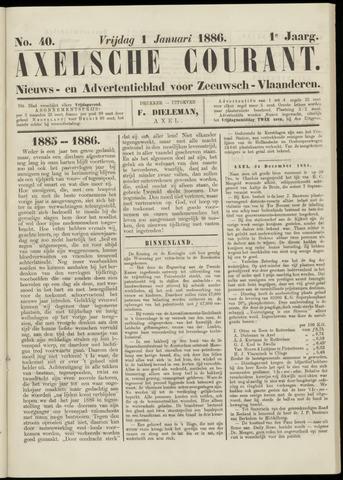 Axelsche Courant 1886