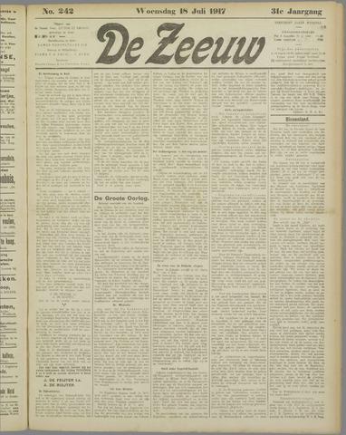 De Zeeuw. Christelijk-historisch nieuwsblad voor Zeeland 1917-07-18