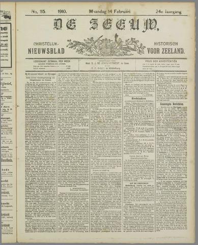 De Zeeuw. Christelijk-historisch nieuwsblad voor Zeeland 1910-02-14