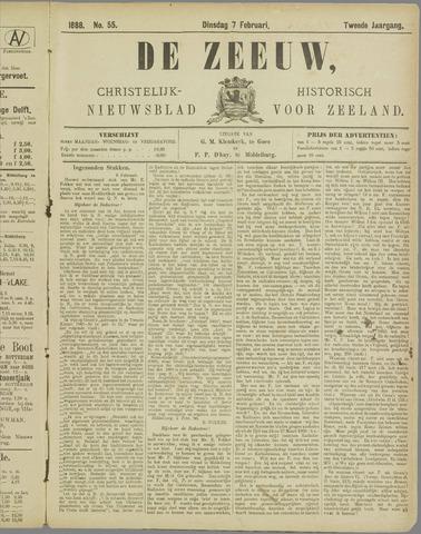 De Zeeuw. Christelijk-historisch nieuwsblad voor Zeeland 1888-02-07