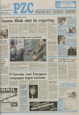 Provinciale Zeeuwse Courant 1991-11-26