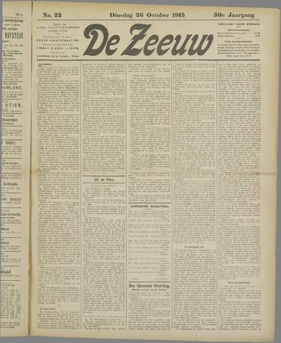 De Zeeuw. Christelijk-historisch nieuwsblad voor Zeeland 1915-10-26
