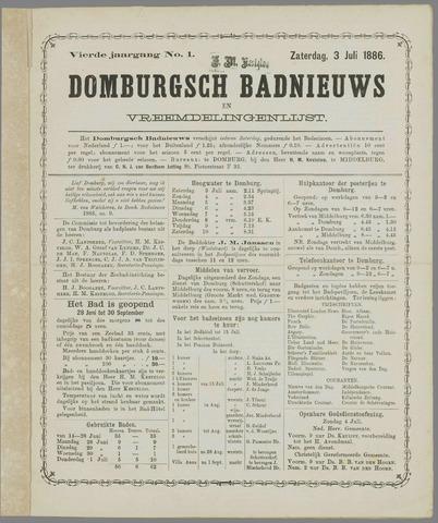 Domburgsch Badnieuws 1886