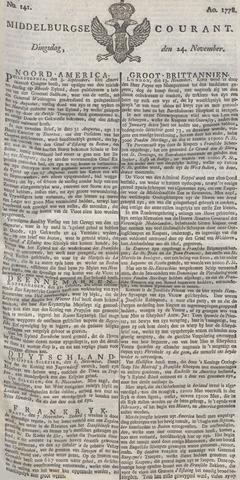 Middelburgsche Courant 1778-11-24