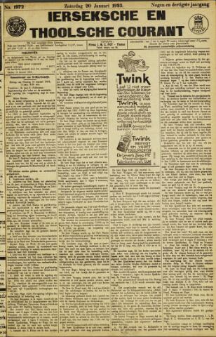 Ierseksche en Thoolsche Courant 1923-01-20
