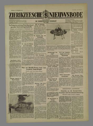 Zierikzeesche Nieuwsbode 1954-09-28