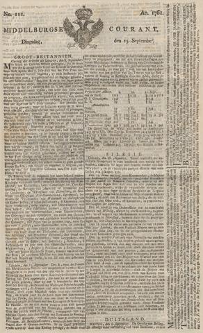 Middelburgsche Courant 1761-09-15