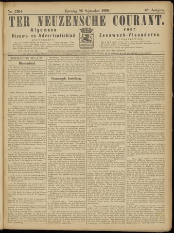 Ter Neuzensche Courant. Algemeen Nieuws- en Advertentieblad voor Zeeuwsch-Vlaanderen / Neuzensche Courant ... (idem) / (Algemeen) nieuws en advertentieblad voor Zeeuwsch-Vlaanderen 1908-09-26