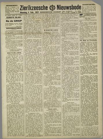 Zierikzeesche Nieuwsbode 1922-02-06
